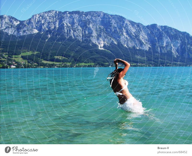 el salto ;) Wasser Sonne Sommer springen Berge u. Gebirge See Wärme Physik