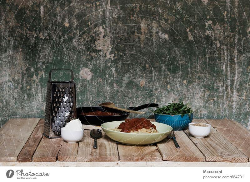 Nudeln mit Soße Lebensmittel Käse Salat Salatbeilage Teigwaren Backwaren Ernährung Essen Mittagessen Festessen Vegetarische Ernährung Italienische Küche