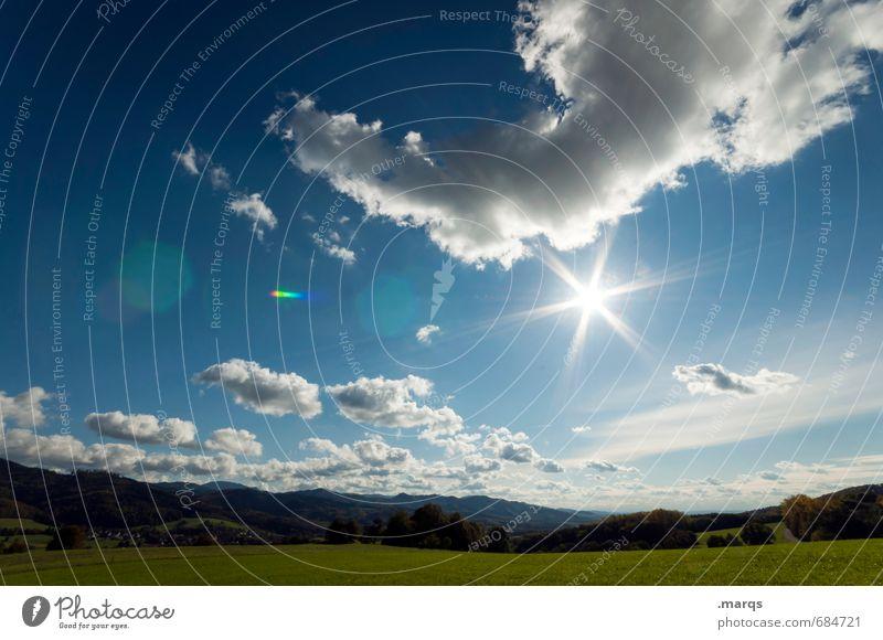 Rheintal Himmel Natur Pflanze Sommer Sonne Erholung Landschaft Wolken Umwelt Wiese Stimmung Zufriedenheit Tourismus Klima Ausflug Schönes Wetter
