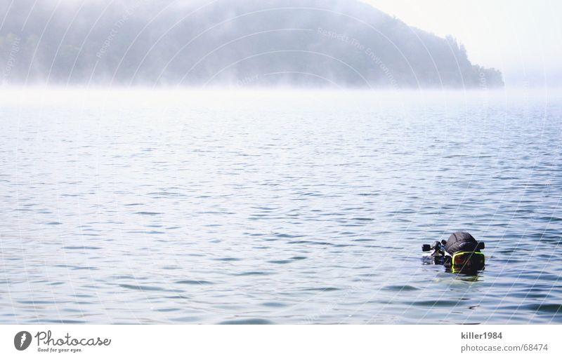 Ungeheuer vom Edersee ;-) dunkel Landschaft Freiheit Nebel tauchen Tauchgerät Ederstausee