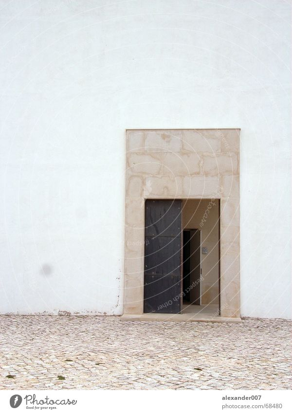 door Einsamkeit Holz Stein Tür einfach Neugier Putz Pflastersteine Ablehnung
