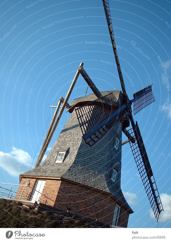 Windmühle Holz historisch Stein