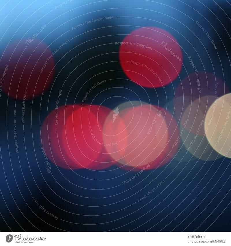 Rote Welle blau Stadt rot schwarz Straße PKW Verkehr leuchten Zukunft Kreis rund Verkehrswege Autobahn durchsichtig Autofahren Ampel