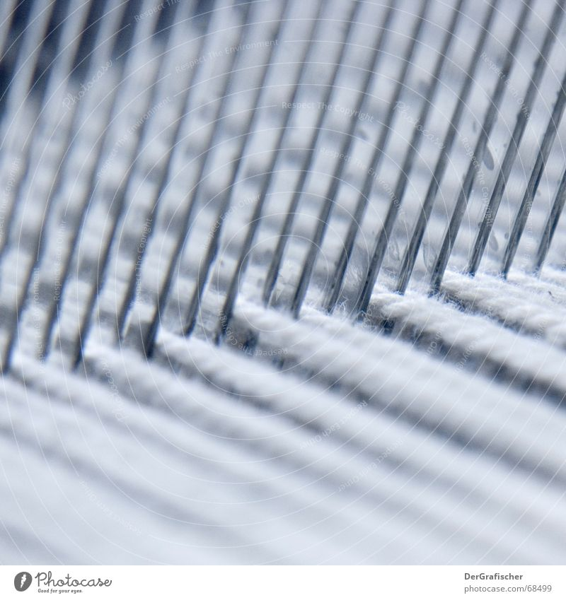 Parallelwelten weiß Linie Arbeit & Erwerbstätigkeit Ordnung Bekleidung trist Industrie Stoff Kreuz diagonal Handwerk Neigung parallel anstrengen Glätte Nähgarn