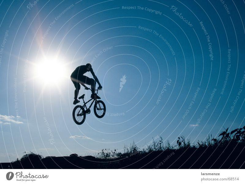 Ein Frosch auf nem BMX? Sonne blau Sport Freiheit Extremsport Dirtjump