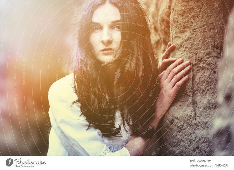 sunshine Mensch feminin Junge Frau Jugendliche Erwachsene Leben Körper 1 18-30 Jahre Natur Landschaft Sonne Sonnenaufgang Sonnenuntergang Sonnenlicht Frühling