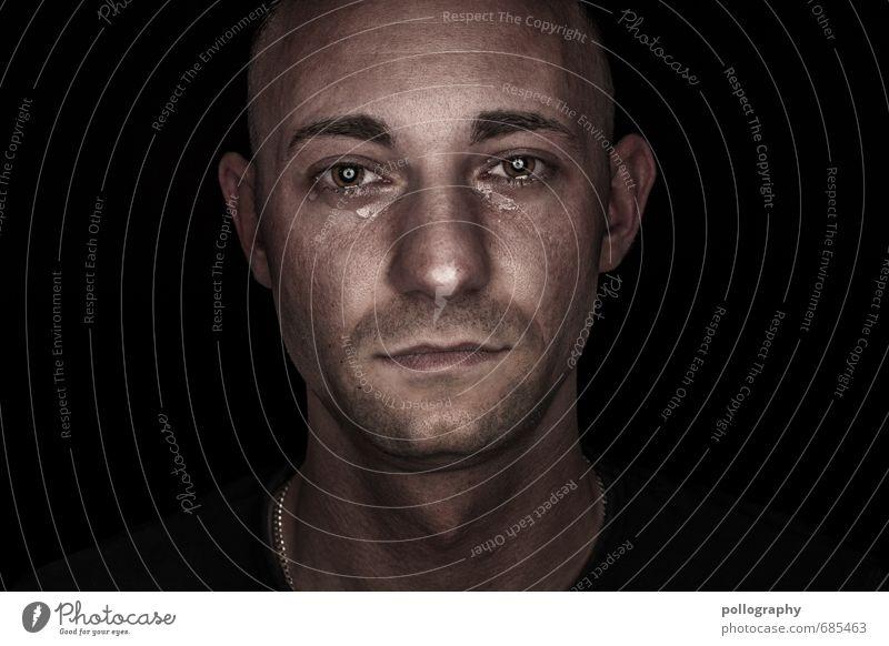 hard shell - soft core (5) Mensch Jugendliche Mann Einsamkeit Freude 18-30 Jahre Junger Mann Erwachsene Leben Traurigkeit Gefühle Glück Kopf Stimmung maskulin