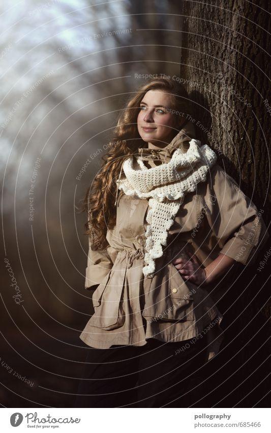 Franzi (3) Mensch feminin Junge Frau Jugendliche Erwachsene Leben Körper 1 18-30 Jahre Pflanze Wolkenloser Himmel Herbst Winter Schönes Wetter Baum Wald Jacke