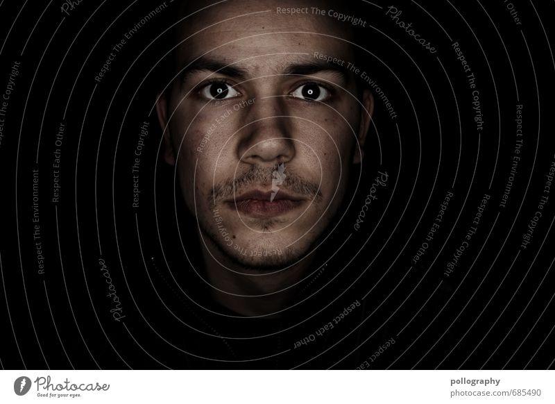 hard shell - soft core (2) Mensch Jugendliche Mann Einsamkeit 18-30 Jahre Junger Mann Erwachsene Auge Leben Traurigkeit Gefühle Kopf Stimmung maskulin