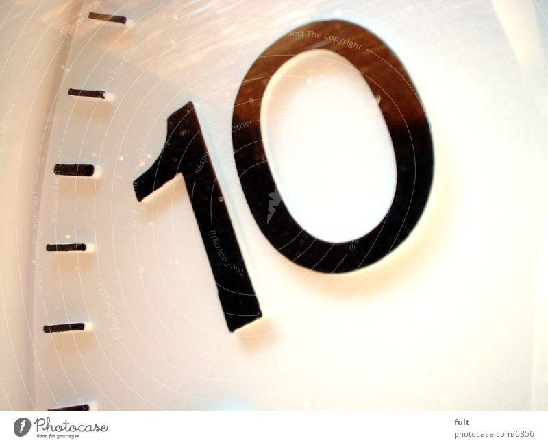 10 Ziffern & Zahlen Uhr Zeit Häusliches Leben Kunstoff