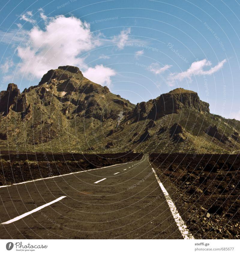 roadtrip // Teneriffa II Natur Ferien & Urlaub & Reisen Landschaft Ferne Berge u. Gebirge Straße Freiheit außergewöhnlich Felsen Tourismus Ausflug Abenteuer