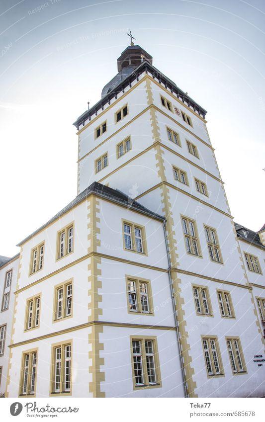 Paderborn - Gymnasium Theodorianum Stadt gelb Wand Architektur Gebäude Mauer Kirche Schulgebäude Burg oder Schloss Bildung Bauwerk Tower (Luftfahrt)