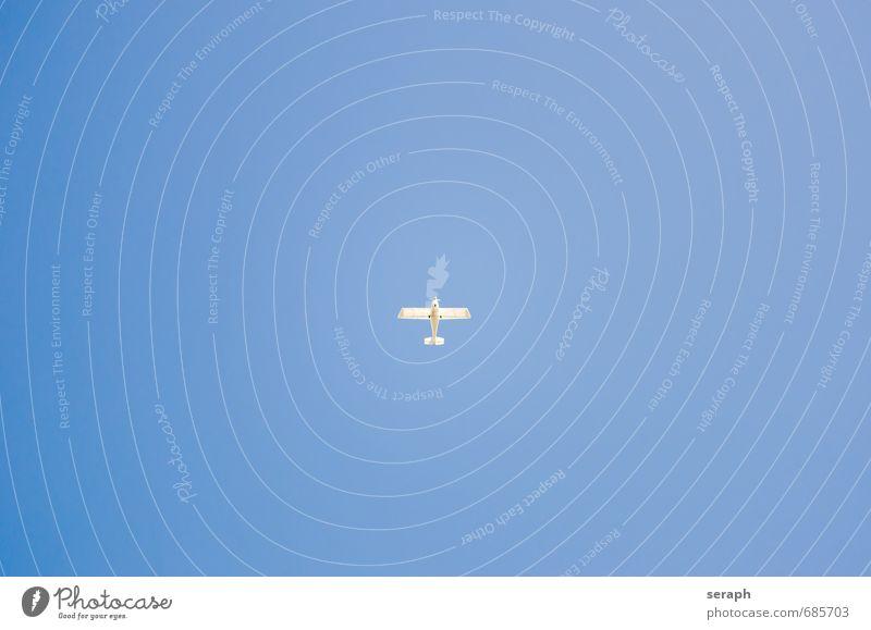 Sportflugzeug Himmel Maschine Fluggerät Luft Pilot Motor Triebwerke Einsamkeit Verkehr Ferien & Urlaub & Reisen liberty Leichtigkeit Wind Flugzeug Umwelt Szene