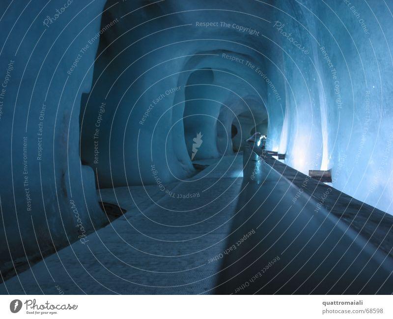 Eisgrotte Tunnel Gletscher Höhle Stollen Gletschereis
