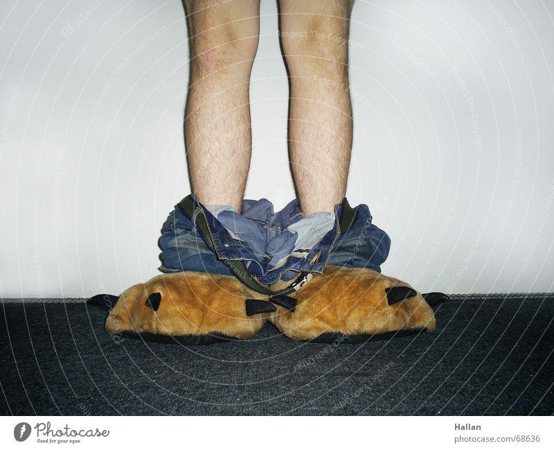 Who put my jeans down?! Brasilien Tanzfläche Meerstraße Hintergrundbild Monster Jeanshose pants sleepers slipers leg legs Coolness naked knee hallan moulin