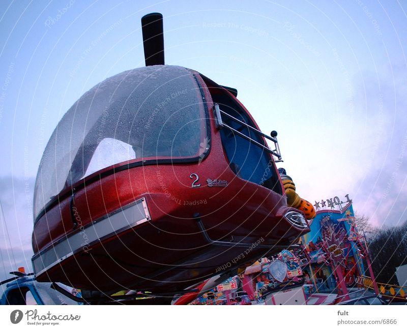 Hubschrauber rot 2 Freizeit & Hobby Jahrmarkt Hubschrauber