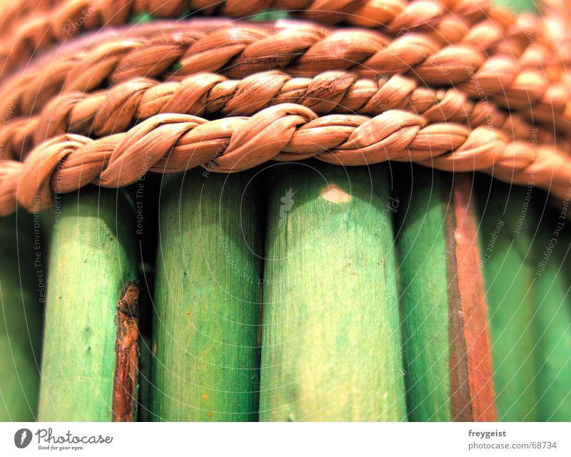 Green Wood 2nd Natur grün Holz Stil braun Seil Schilfrohr Weide Bündel Holzmehl Oberlippe Bast