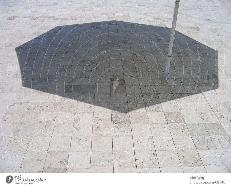 sonnenschirm Sonnenschirm Kalifornien Getty Center Schatten USA Stein Kopfsteinpflaster