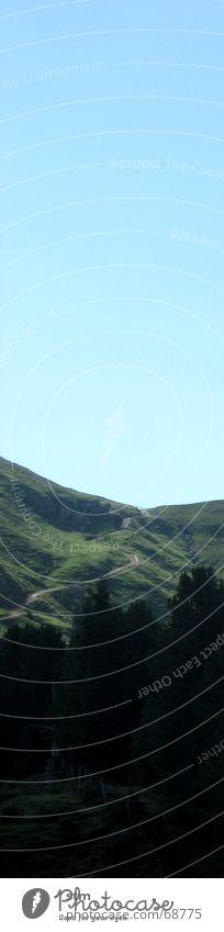 roadmovie 08 Wald Wiese Bergkamm wandern Dolomiten Ferne Straße Berge u. Gebirge Alpen Wege & Pfade Niveau
