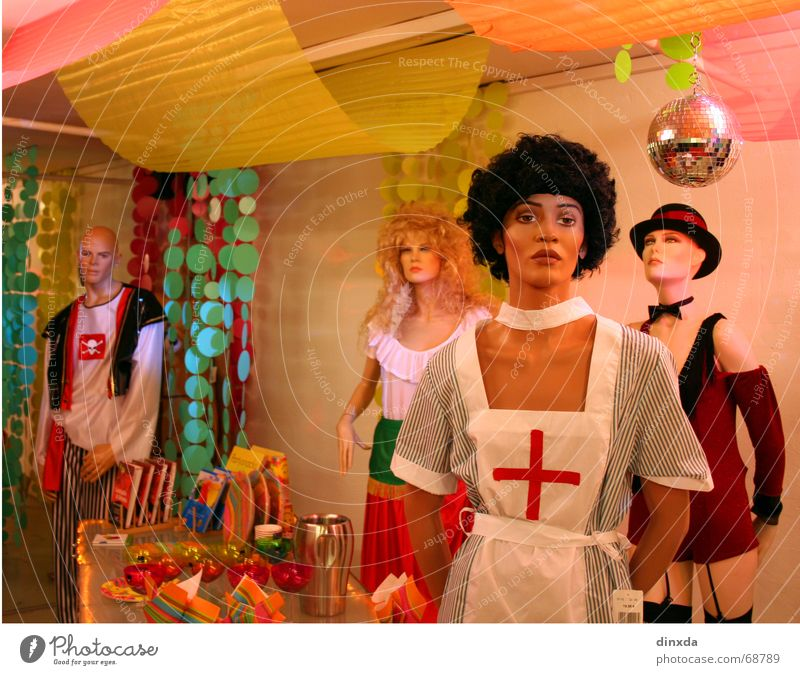 Plastikparty Farbe Party Kitsch Dekoration & Verzierung Statue trashig Puppe Hochmut gestellt Schaufensterpuppe