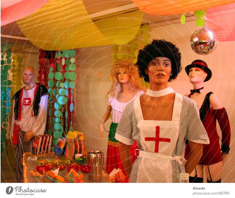 Plastikparty Schaufensterpuppe mehrfarbig Party Hochmut Statue Puppe Farbe starre gestellt Dekoration & Verzierung trashig Kitsch