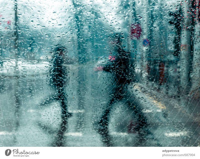 Regentag Mensch maskulin feminin Leben Körper 2 30-45 Jahre Erwachsene Umwelt Himmel Wolken Herbst Klima Wetter Dorf Kleinstadt Stadt Hauptstadt bevölkert
