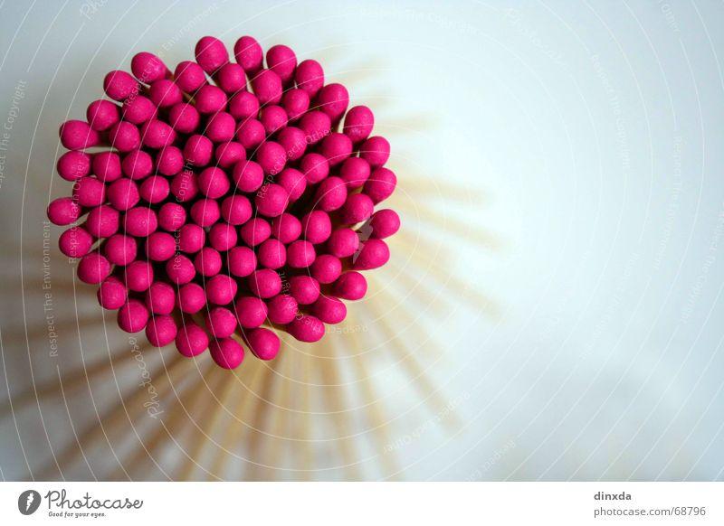 feuerfänger anzünden zündend Spirale Holz rosa streicholz Brand zündkopf