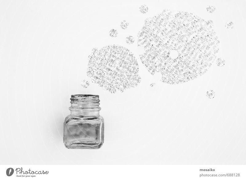 Tintenfaß Wolken sprechen Freiheit Denken außergewöhnlich träumen Business Büro Design Erfolg Kommunizieren Zukunft lernen Idee einzigartig Buchstaben