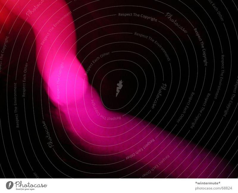 Glüh, Würmchen! Farbe Lampe dunkel Erholung Bewegung rosa Ball Kugel Neonlicht Leuchtdiode magenta
