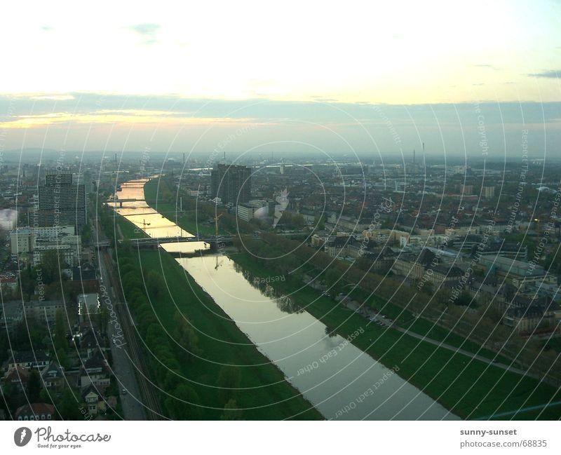 Mannheim - Neckar Stadt Flussufer leben am fluss neckarstadt