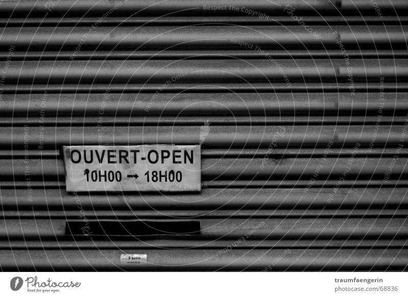 feierabend 18h Briefkasten Garage Geschäftszeiten Furche fertig Beruf Bäh ausschalten Erholung heimwärts offen 10 uhr 18 uhr Schilder & Markierungen