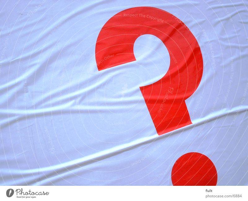Fragezeichen rot weiß Dinge ? Kunstoff