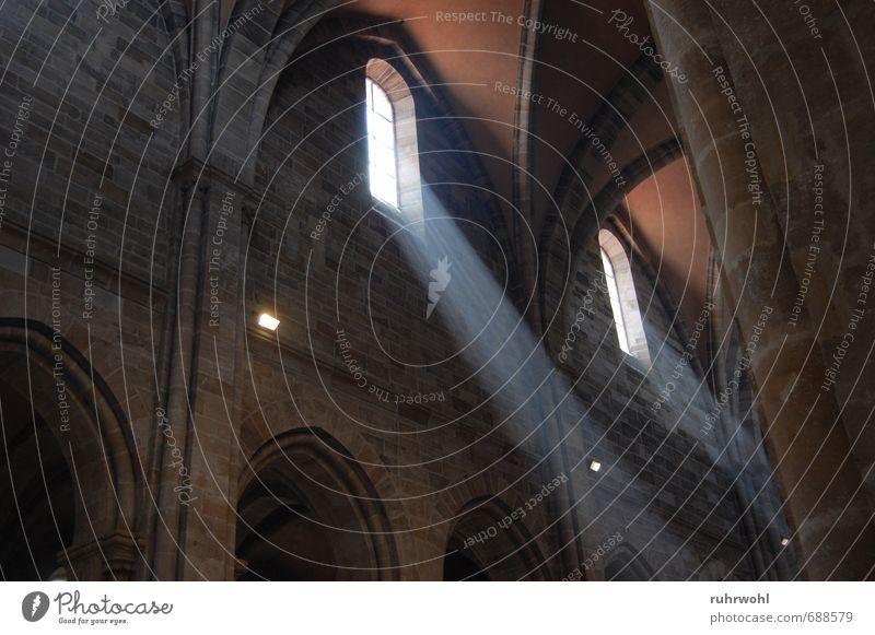 Die Erleuchtung Kirche Dom Mauer Wand Sehenswürdigkeit atmen Hoffnung Glaube Religion & Glaube Erde Wert Farbfoto Innenaufnahme Textfreiraum links Tag Licht