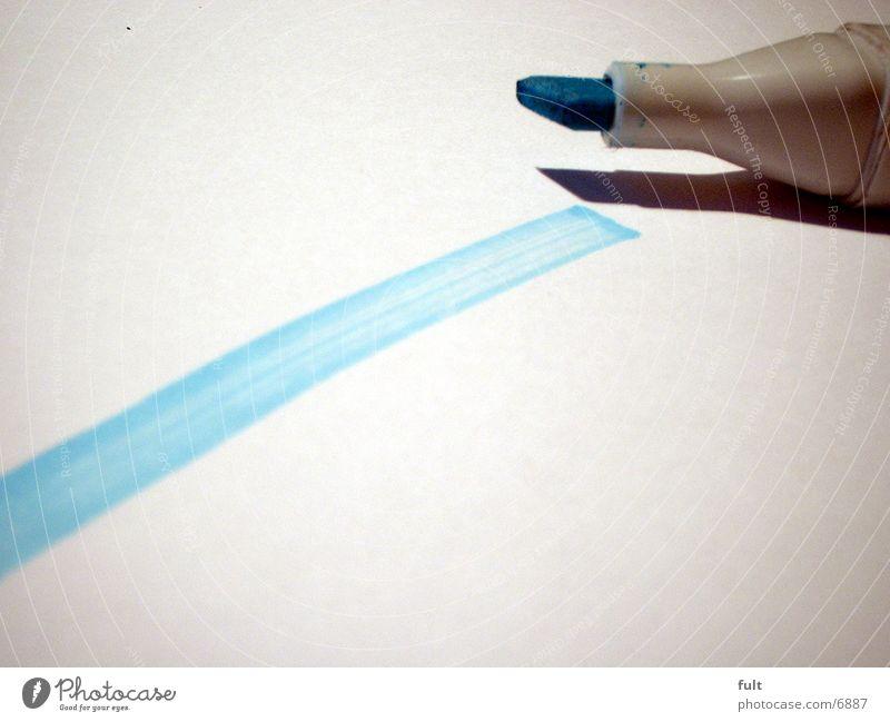 Linie weiß blau Dinge