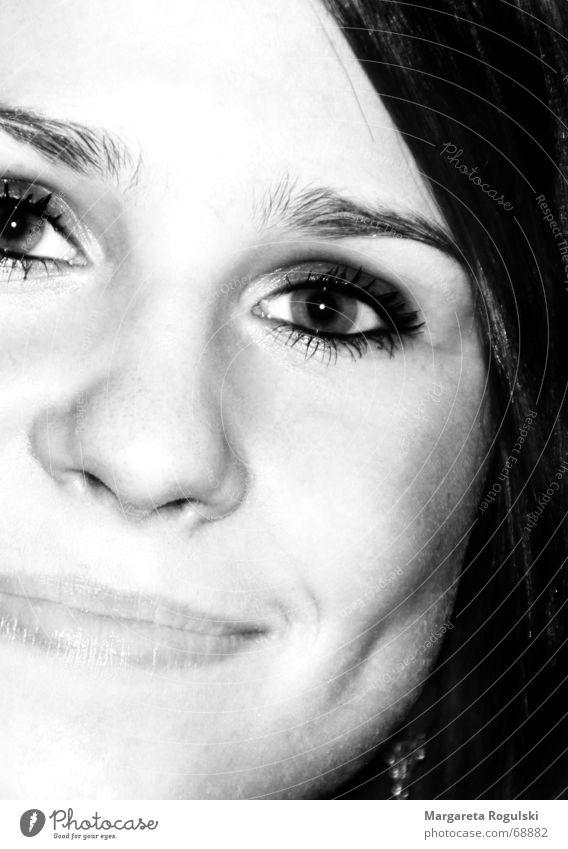 Zufriedenheit Frau Gesicht Auge Glück Haare & Frisuren Kopf Zufriedenheit