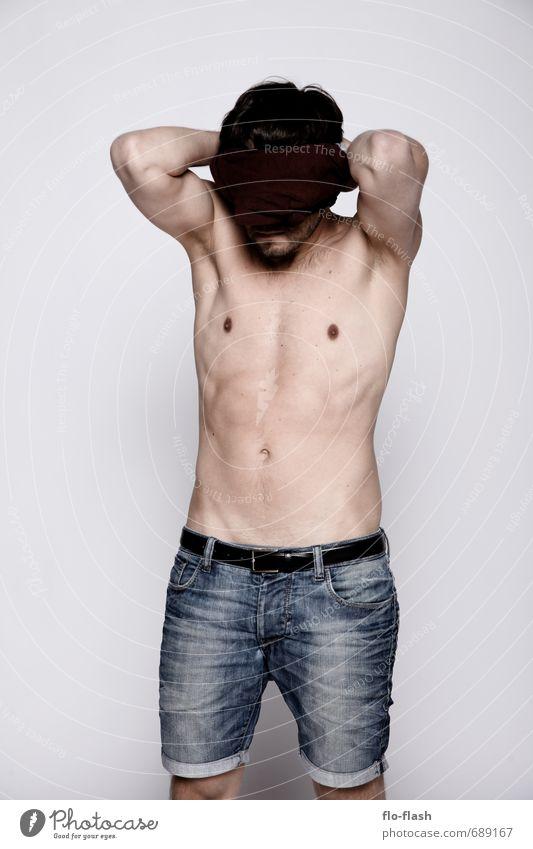 WENN JETZT FRÜHLING WÄR Mensch Jugendliche Mann ruhig 18-30 Jahre Junger Mann Erwachsene Erotik Wärme Denken Gesundheit maskulin Körper Kraft warten stehen