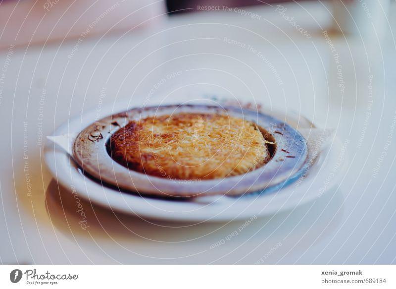 Künefe schön Lebensmittel ästhetisch genießen Ernährung Süßwaren lecker Teller Dessert Zucker Nudeln Geschmackssinn Herd & Backofen Käse Türkei