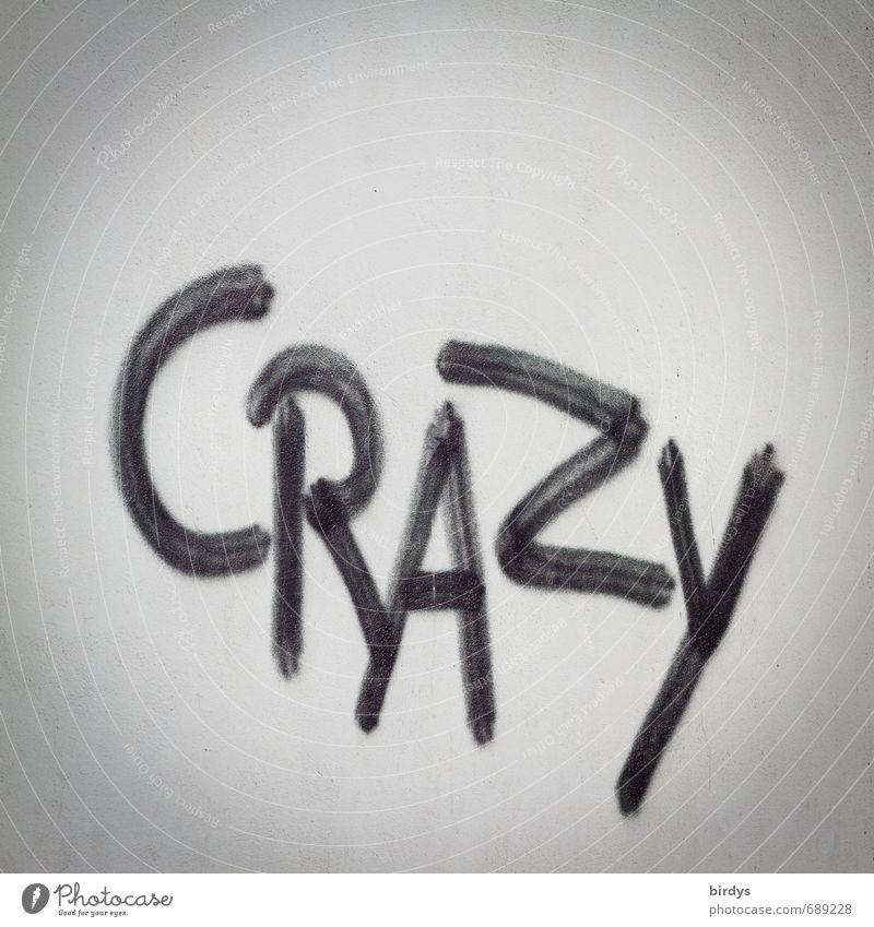 ...times and cracy minds schwarz Graffiti Gefühle grau Schriftzeichen ästhetisch verrückt Kreativität Jugendkultur Wut Gesellschaft (Soziologie) Überraschung