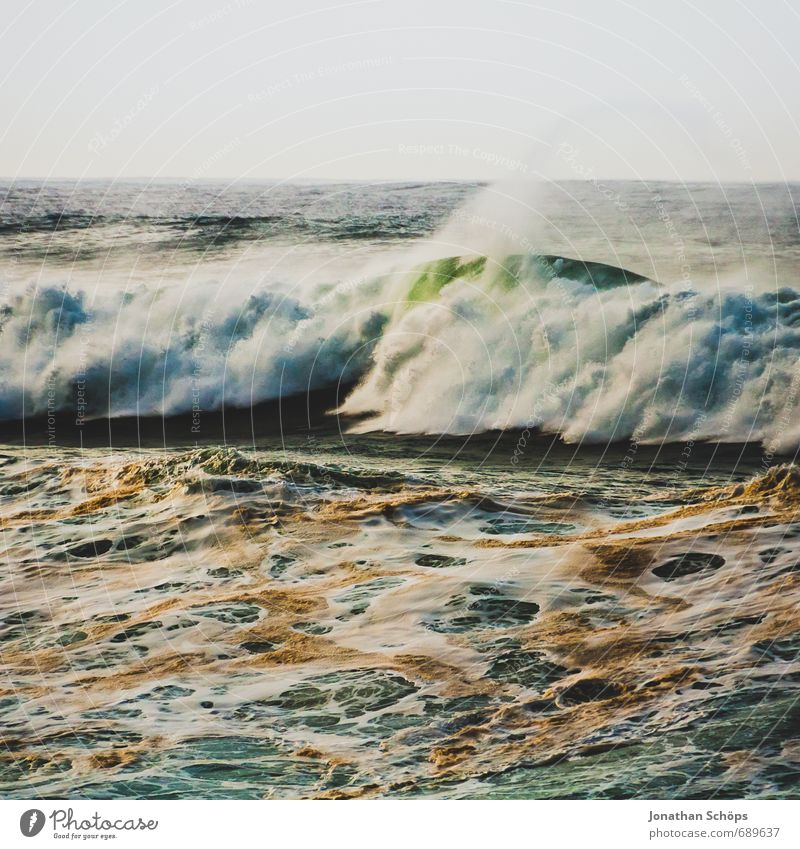Puerto de la Cruz / Teneriffa VIII Natur Meer Landschaft Umwelt Küste dreckig Wellen wild Wind gefährlich Insel Spanien Unwetter Quadrat Sturm Aggression