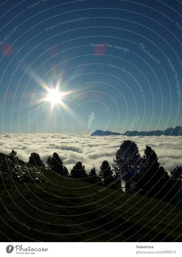 Sonne im Gebirge Himmel Natur Ferien & Urlaub & Reisen blau Baum Landschaft Wolken Wald Berge u. Gebirge Freiheit Luft Wetter Nebel Tourismus wandern