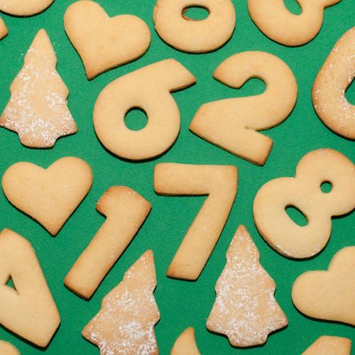 Nur noch 268 Tage ;-) Teigwaren Backwaren Plätzchen Ernährung Essen Kaffeetrinken Festessen Weihnachten & Advent Winter Zeichen Ziffern & Zahlen Herz 1 7 4