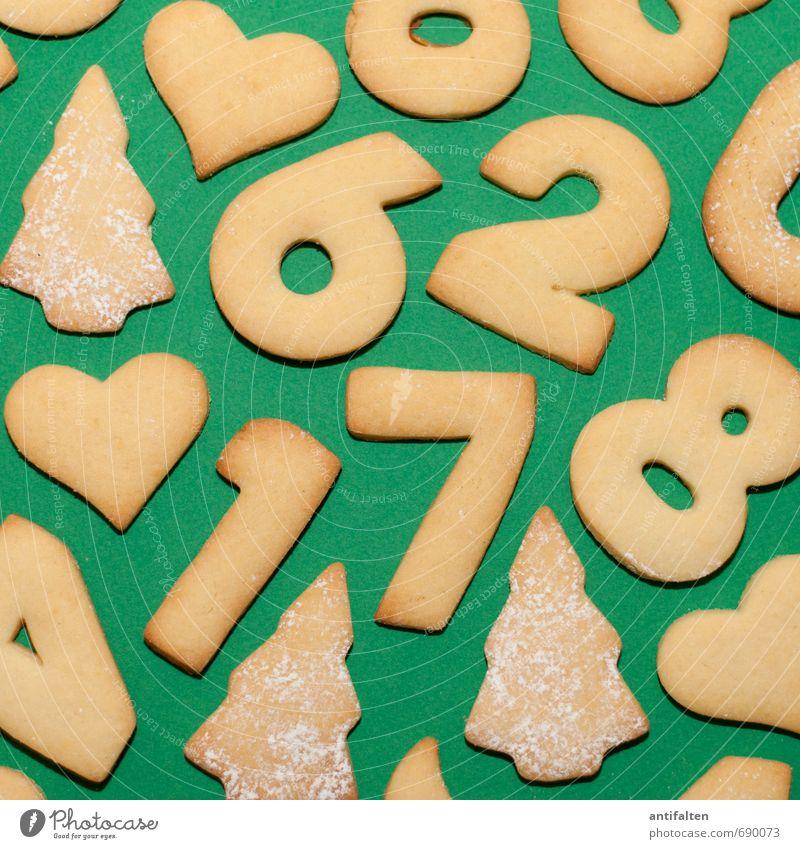 Nur noch 268 Tage ;-) Weihnachten & Advent grün Winter gelb Essen 1 liegen 2 Ernährung genießen Herz Zeichen Ziffern & Zahlen 4 Weihnachtsbaum Vorfreude