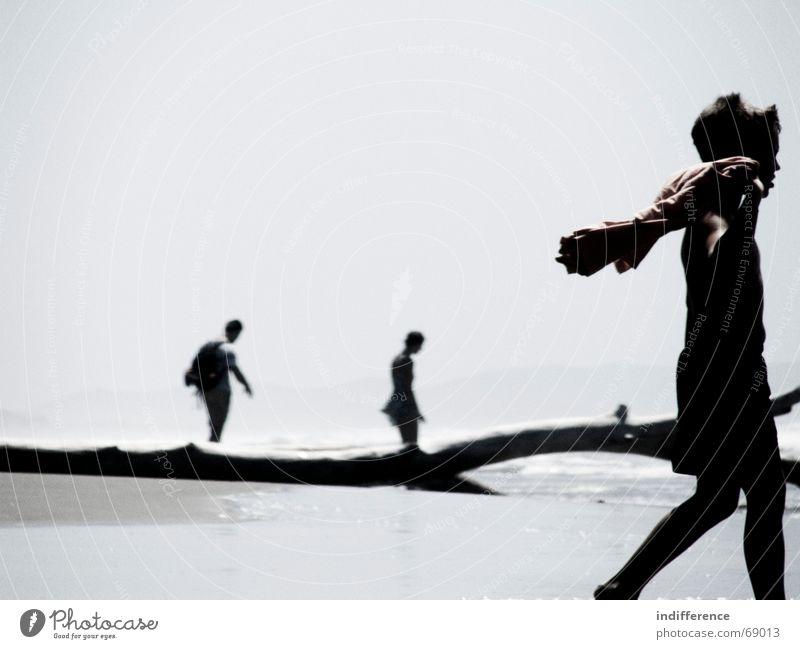 passage Mensch Sommer Strand Sand Italien