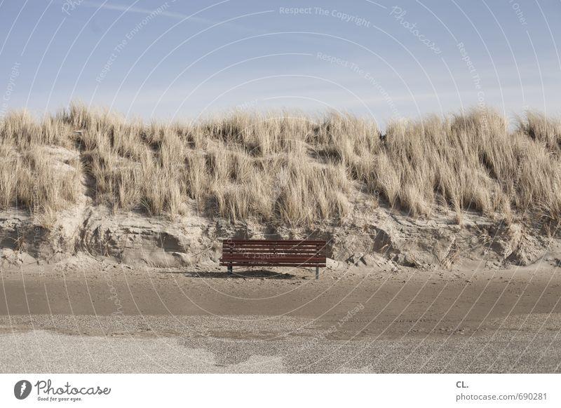 sonnenbank Himmel Natur Ferien & Urlaub & Reisen Einsamkeit Landschaft ruhig Strand Umwelt Freiheit warten Tourismus Insel Schönes Wetter Ausflug Pause Bank