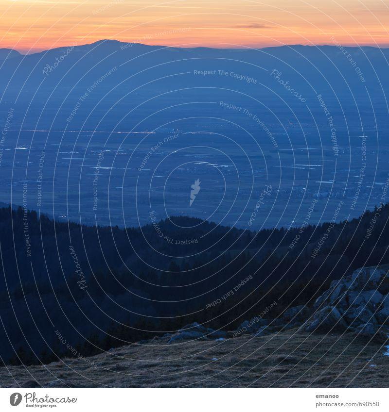 abends oben Ferien & Urlaub & Reisen Ferne Freiheit Berge u. Gebirge wandern Umwelt Natur Landschaft Pflanze Wetter Wald Hügel Felsen Gipfel dunkel hoch kalt