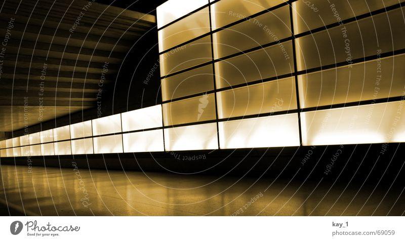 Bleaky way Licht Beton Trauer Bahnhof Berlin unterirdisch Wege & Pfade light Glas depot railway station concrete dark bleak bleaky Traurigkeit dunkel U-Bahn