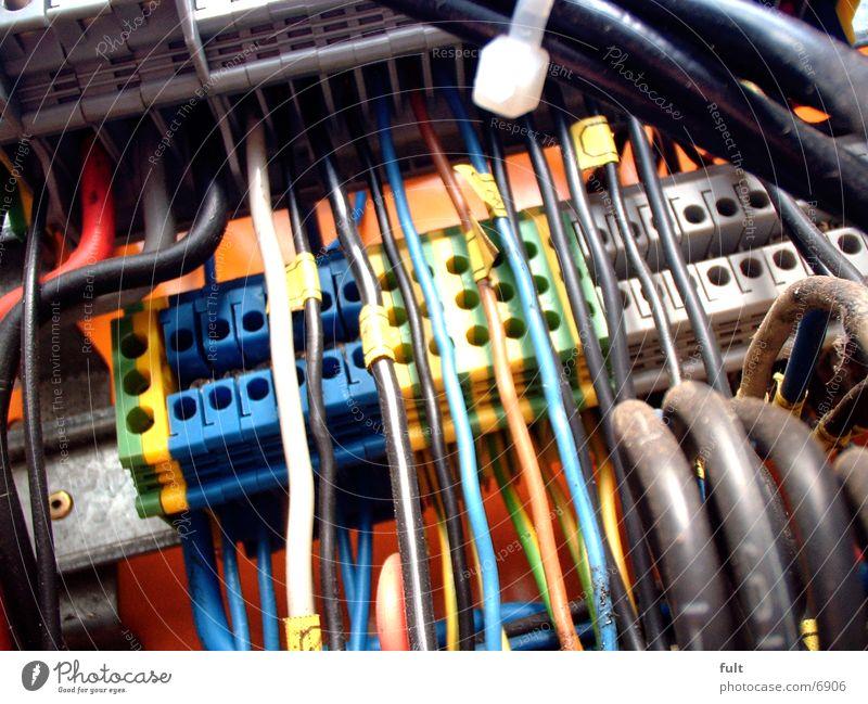 Kabel Industrie Kabel Schnur Kasten Produktion Sicherungskasten