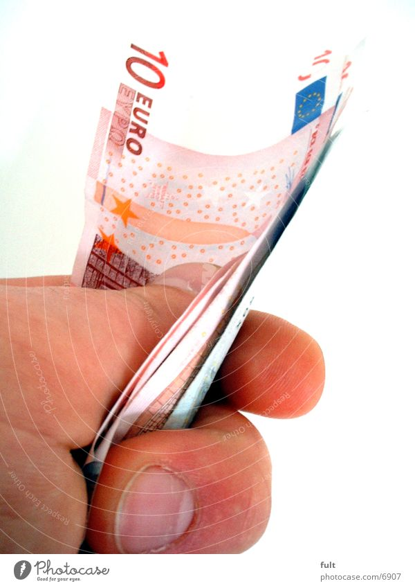 geld regiert die welt! Geld Geldscheine Hand Dinge Euro 10 euro