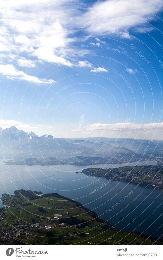 Vierwaldstättersee Himmel Natur blau grün Landschaft Umwelt Berge u. Gebirge natürlich See Schönes Wetter Alpen Schweiz Vierwaldstätter See
