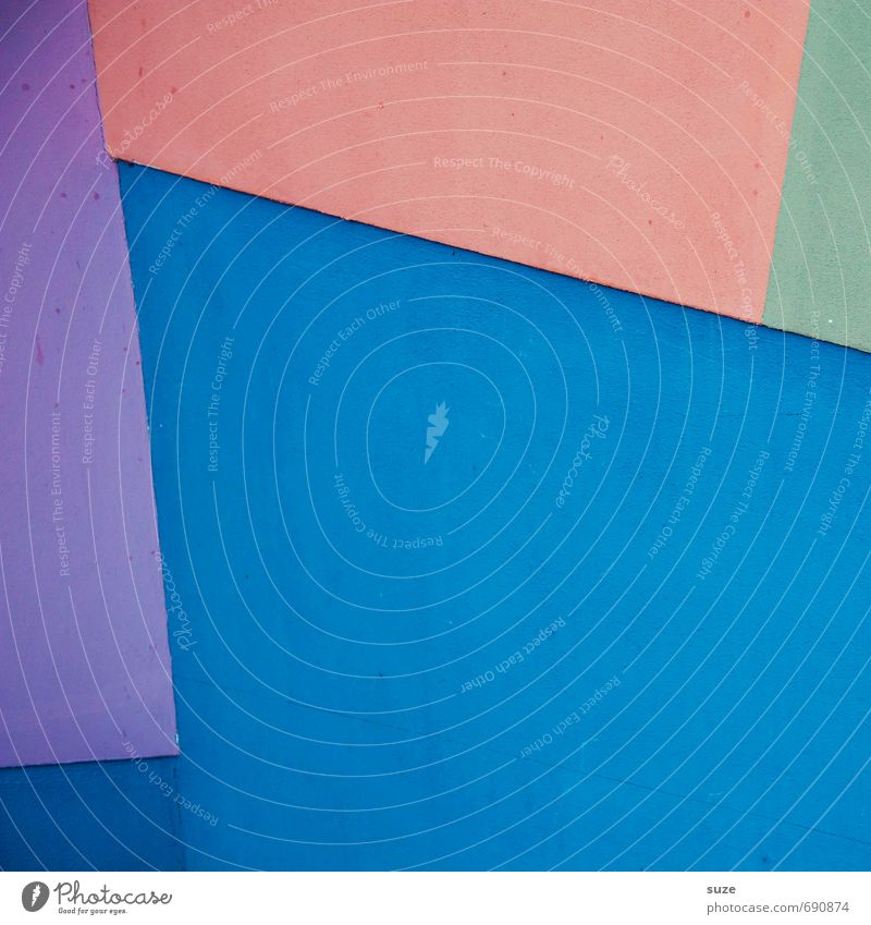 Graphic 2.5 Lifestyle Stil Design Kunst Fassade Linie Streifen eckig einfach modern blau grün violett orange Kreativität Ordnung Präzision Wand
